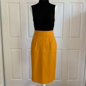 Mustard Yellow Banana Republic Pencil Skirt